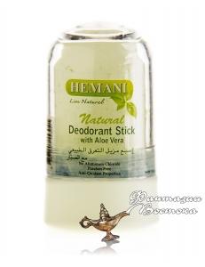 Натуральный квасцовый дезодорант c Алоэ-Вера Hemani Natural Deodorant Stick