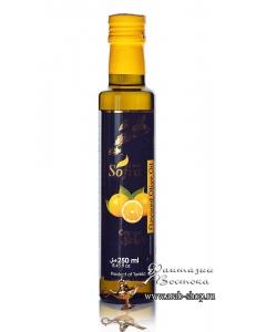 Масло оливковое Sofra, первого (холодного) отжима в стеклянной бутылке с добавкой апельсин, 0,25 л