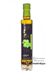 Масло оливковое Sofra, первого (холодного) отжима в стеклянной бутылке с добавкой базилик, 0,25 л
