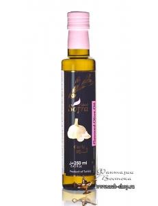 Масло оливковое Sofra, первого (холодного) отжима в стеклянной бутылке с добавкой чеснок, 0,25 л
