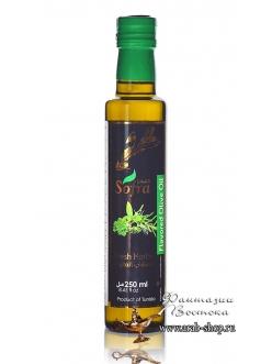 Масло оливковое Sofra, первого (холодного) отжима в стеклянной бутылке с добавкой свежие травы, 0,25 л
