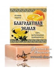 """Оливковое мыло с апельсином """"Благодатная земля"""""""