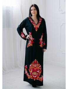 Абайя арабское платье  хлопок нить кашемир