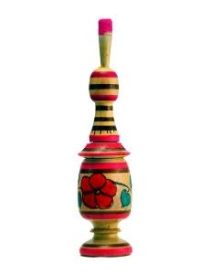 Кохлия деревянная ручная роспись красками разборная низкая
