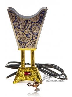 Бахурница электрическая Расписная синяя 17 см