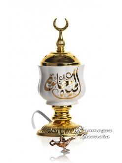 Бахурница электрическая Аль-Арабия белая 10 см.