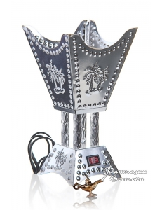 Бахурница электрическая RIHA SAMAA 22 см. , серебряная