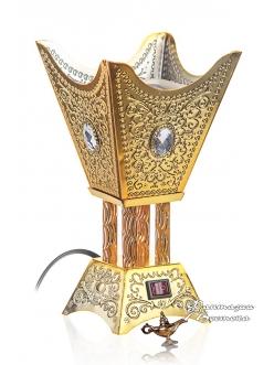 Бахурница электрическая RIHA YASMIN 22 см. , золотая