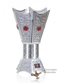 Бахурница электрическая RIHA AMBER 22 см. , серебряная