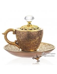 """Бахурница """"Кофейная чашка """" золотая 10 см"""