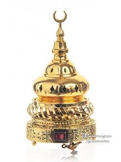 """Бахурница электрическая """"Башня """" золотая 22 см."""