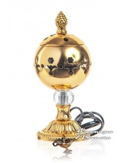 """Бахурница электрическая """"Аромат вселенной"""" золотая 18 см."""