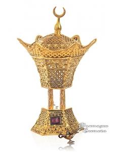"""Бахурница электрическая """" Звезда """" золотая  18 см."""