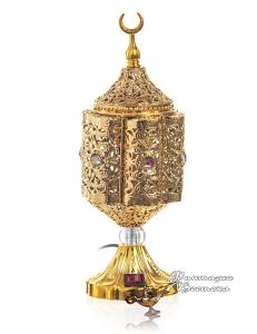 """Бахурница электрическая """" Sharkia"""" золотая 27 см."""