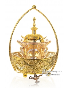 "Бахурница ""Корзина"" золотая 20 см."