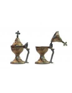 Бахурница с крестом антик 18 см.