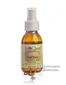 Тоник для жирной кожи лица против акне с глюногоном лекарственным Bio Cham