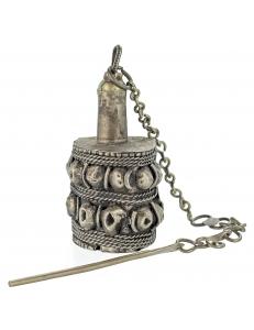 Кохлия старинная 6 см. серебряная ручная работа 19 век., Афганистан