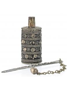 Кохлия старинная 7 см. серебряная ручная работа 19 век., Афганистан