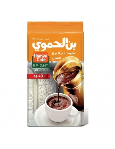 Арабский кофе с кардамоном средней обжарки Hamwi Cardamon Bright , 500 гр. , Сирия