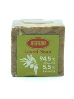 Натуральное оливково-лавровое мыло с 5,5 % содержанием лаврового масла ASHTAR 200 гр. , Сирия