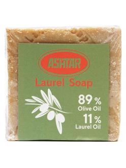 Натуральное оливково-лавровое мыло с 11 % содержанием лаврового масла ASHTAR 200 гр. , Сирия