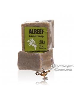 Натуральное оливково-лавровое  мыло с 5% содержанием лаврового масла ALREEF 200 гр. , Сирия