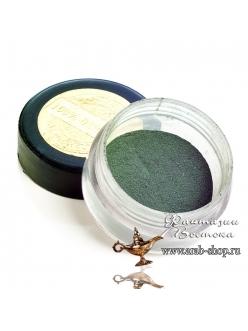 Минеральные тени- кипарисовый темно зеленый  блеск пирит GULDSHAN «Роза души» East Nights
