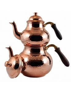 Пара медных чайников в восточном стиле