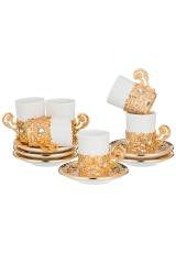 Кофейный набор в арабском стиле на 6 персон, высота 7,5 см