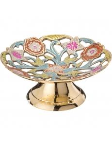 Конфетница ажурная в восточном стиле латунь, цветная эмаль