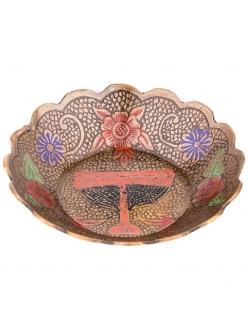Розетка в восточном стиле 10X10X2 см. латунь, цветная эмаль