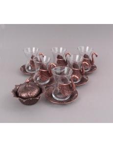 Армуды чайный сервиз в восточном стиле на 6 персон , медь