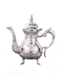 Cервировочный чайник в восточом стиле, Серебряный