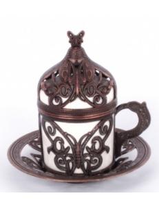 Кофейная пара под кофе по-турецки , медь
