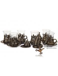 Армуды чайный сервиз в восточном стиле на 6 персон , бронза