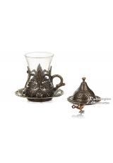 Армуды чайный сервиз в восточном стиле на 1 персону , бронза