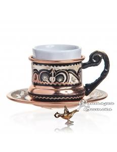 Кофейная пара в восточном стиле ручной работы , медь