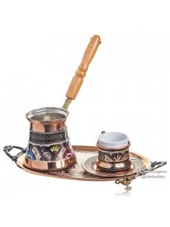 Кофейный набор для кофе по-турецки медный