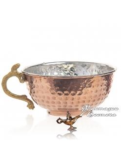 Чашка медная для айрана ручной работы