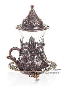 Армуды чайный сервиз в восточном стиле на 1 персону , медь