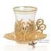 Армуды чайный сервиз в восточном стиле на 6 персон , золотой