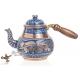 Медный чайник расписной ручной работы , 700 мл, синий,  Турция