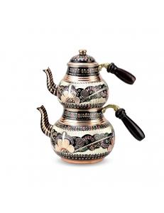 Пара медных чайников в восточном стиле расписные ручная работа