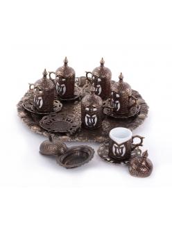 Кофейный сервис на 6 персон под кофе по - турецки , бронза