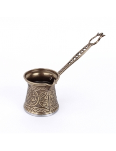 Турка ( джезва ) для кофе по-турецки двуслойная малая , бронза 125 мл