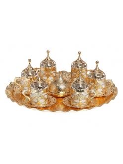 Кофейный сервиз на 6 персон под кофе по - турецки, золото