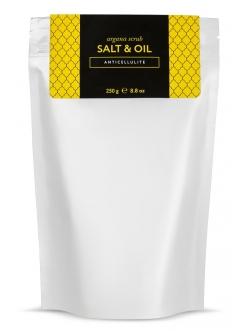 Аргановый скраб солевой антицеллюлитный Huilargan 250 гр.